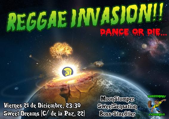 Reggae Invasion 21 de diciembre