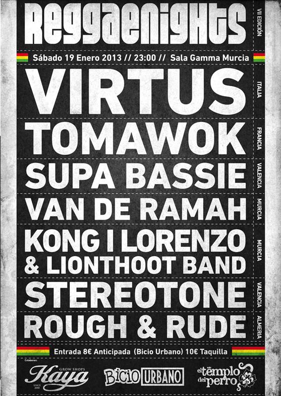 reggae nigths 7 flyer