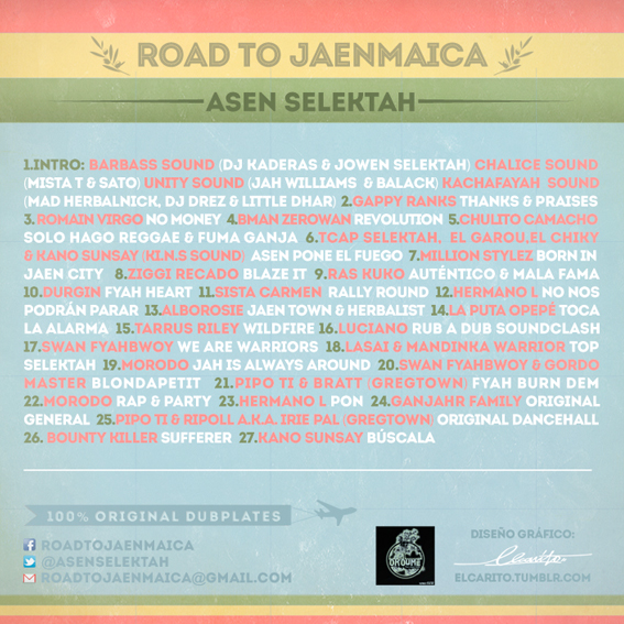 "MIX ACTUAL #3- ASEN SELEKTAH - ""ROAD TO JAENMAICA"" cover2"