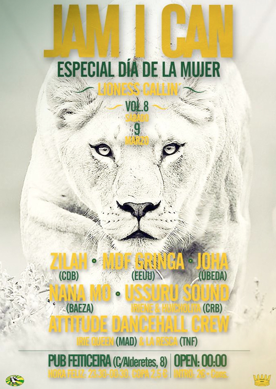 jam i can dia mujer flyer