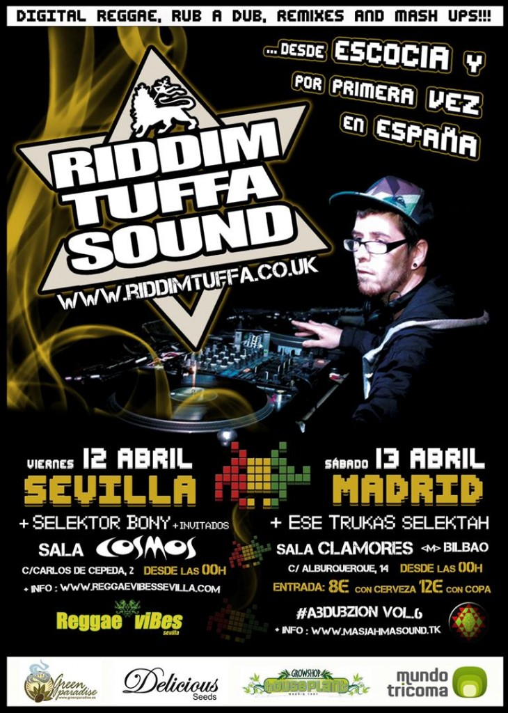 14 Abril - Riddim Tuffa @ Clamores MADRID (WEB)