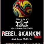 Concierto de Rebel Skankin' y Shakti I&I este viernes en Barcelona