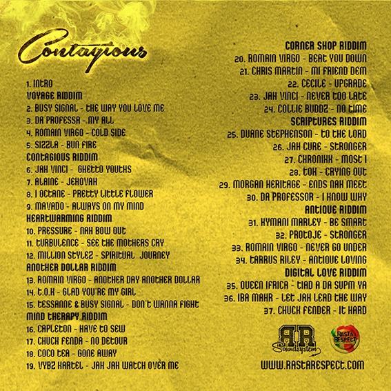 Rasta Respect sound contagious tracklist