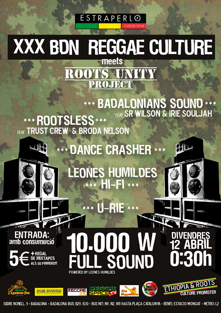 XXX Bdn Reggae Culture meets Roots Unity Project
