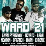 Ward 21 por primera vez en España junto a Fyahbwoy, Newton, Novato, Lasai, Dakaneh, Bman y Chronic Sound en la Sala Cats el 8 de Mayo