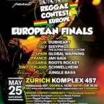 Gran final del Reggae Contest Europeo el 25 de mayo en Zurich