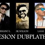 Dubplates con Ñ. Hermano L, Lasai y Sr. Wilson en sesión de grabación