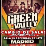 El concierto de Green Valley en la sala Caracol cambia de sala Independance live (Ultima hora)
