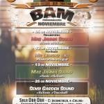Programación de #BAM para todos los miércoles de Noviembre en Madrid