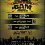 Programación de #BAM para Diciembre con Mas Jahma Sound