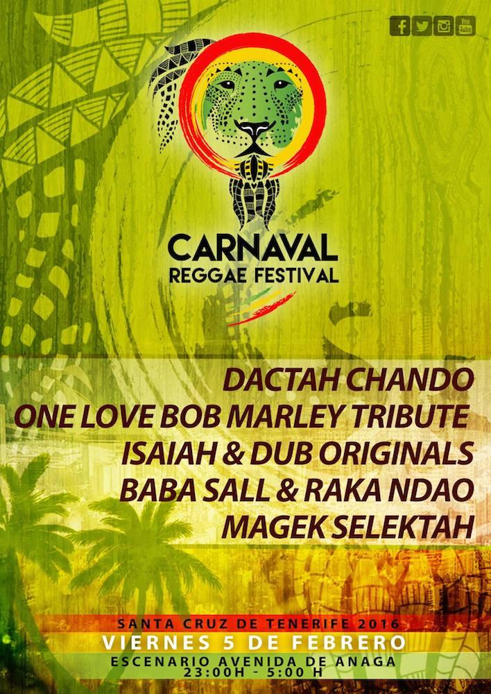 Cartel sr Carnaval Reggae 2