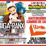 Última hora: Biga Ranx en Madrid CAMBIO DE SALA. sala LEMON