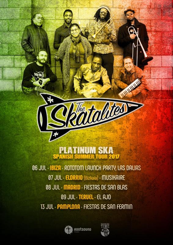 "The Skatalites inicia hoy en Ibiza su gira por España, presentando su último trabajo ""Platinum Ska"""
